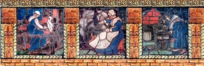 Teachers College 01-Moravian tiles