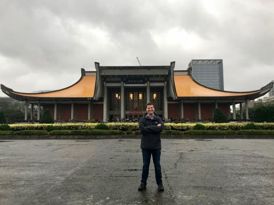 In front of the Sun Yat-sen Memorial