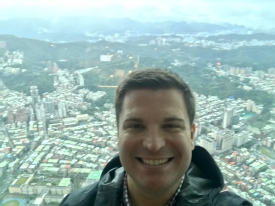 On top of the Taipei 101 building