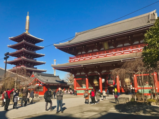 The Sensoji Buddhist Temple (浅草寺) in Tokyo