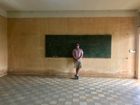 An empty classroom used for torture
