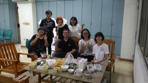 Eating lunch in Tainan